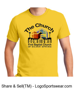 Church Unisex Adult T-Shirt Design Zoom