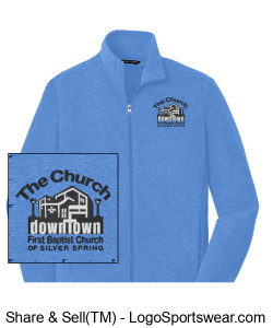 Church Fleece Jacket Design Zoom