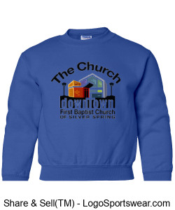 Church Youth Size Sweat Shirt Design Zoom